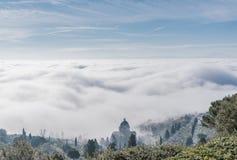 Kerk van Cortona in Toscanië - Italië royalty-vrije stock fotografie