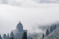 Kerk van Cortona in Toscanië - Italië royalty-vrije stock foto