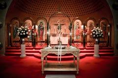 Kerk van de Aankondiging, Cranston, RI stock afbeeldingen