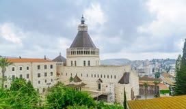 Kerk van de Aankondiging, Nazareth royalty-vrije stock foto's
