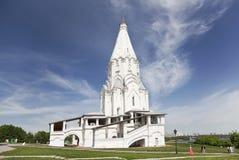 Kerk van de beklimming in Kolomenskoye. Moskou Stock Foto