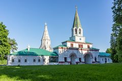 Kerk van de Beklimming in Kolomenskoye, Moskou, Rusland royalty-vrije stock foto's