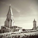 Kerk van de Beklimming in Kolomenskoye, Moskou, Rusland Stock Foto