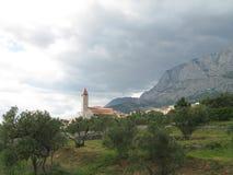 Kerk van de berg Biokovo Royalty-vrije Stock Afbeelding