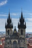 Kerk van de Dame Before Tyn, Praag Stock Afbeeldingen