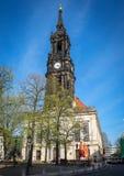 Kerk van de Drie Koningen in Dresden Royalty-vrije Stock Afbeeldingen