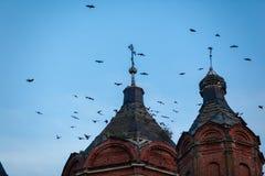 Kerk van de Drievuldigheid van het Leven Tankeeva, Tatarstan Royalty-vrije Stock Fotografie