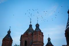 Kerk van de Drievuldigheid van het Leven Tankeeva, Tatarstan Royalty-vrije Stock Foto's