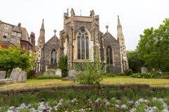 Kerk van de de 12de eeuw de Roemeense stijl van St Mary Virgin, Dover, het Verenigd Koninkrijk stock afbeeldingen