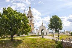 Kerk van de Geboorte van Christus van Virgin Dorp Gorodnya, Tver-gebied royalty-vrije stock foto's