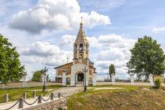 Kerk van de Geboorte van Christus van Virgin Dorp Gorodnya, Tver-gebied royalty-vrije stock afbeelding