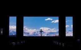 Kerk van de Goede Herder in Nieuw Zeeland stock afbeelding