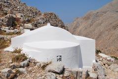 Kerk van de Heilige Drievuldigheid, Halki Stock Fotografie