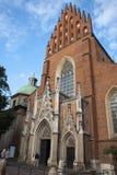 Kerk van de Heilige Drievuldigheid in Krakau Royalty-vrije Stock Afbeeldingen