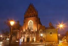 Kerk van de Heilige Drievuldigheid in Krakau Stock Afbeelding