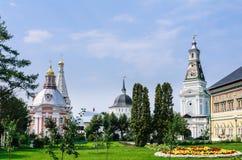 Kerk van de Heilige Drievuldigheid St Sergius Lavra Stock Afbeelding