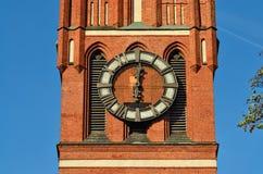 Kerk van de Heilige familie (fragment) Kaliningrad, Rusland Royalty-vrije Stock Foto's