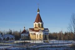 Kerk van de Heilige Martelaar Panteleimon in Petrozavodsk Stock Afbeeldingen