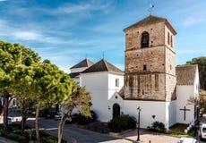 Kerk van de Imaculate-Conceptie in Mijas royalty-vrije stock foto