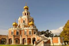 Kerk van de Interventie in Fili, Moskou, Rusland Stock Foto's