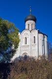 Kerk van de Interventie op Nerl. Royalty-vrije Stock Fotografie