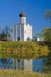 Kerk van de Interventie op Nerl. Royalty-vrije Stock Afbeeldingen