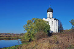 Kerk van de Interventie op Nerl. Stock Afbeelding
