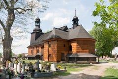 Kerk van de mateloosheid gewijd aan de Heilige Drievuldigheid in KoszÄ™cin Stock Foto's