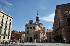 Kerk van de Militaire Raad van Sacramento van Spanje in het centrum van Madrid Stock Foto
