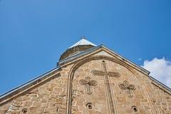 Kerk van de Moeder van God, Ananuri stock afbeelding
