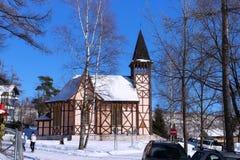 Kerk van de Onbevlekte Ontvangenis in Stary Smokovec Slowakije, Hoge Tatras-bergen stock foto