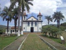 Kerk van de Rozentuin, Barrão DE Cocais in het historische patrimonium van Minas Gerais royalty-vrije stock fotografie