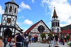 Kerk van de stad van Colonia Tovar, Venezuela stock afbeeldingen