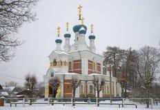 Kerk van de Vergine Santa, donkere de herfstdag Marienburg Royalty-vrije Stock Foto's