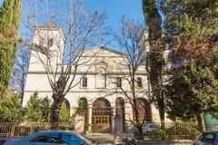 Kerk van de Vergine Santa in het centrum van Bourgas, Bulgarije Stock Fotografie