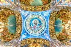 Kerk van de Verlosser op Bloed, binnenland, St. Petersburg, Rusland royalty-vrije stock afbeeldingen