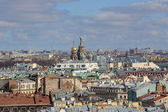 Kerk van de Verlosser op Bloed in St Petersburg, Rusland Stock Afbeelding