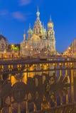 Kerk van de Verlosser op Bloed te St. Petersburg, Rusland Stock Fotografie