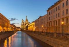 Kerk van de Verlosser op Bloed te St. Petersburg, Rusland Stock Afbeeldingen