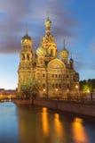 Kerk van de Verlosser op Bloed te St. Petersburg, Rusland Stock Foto