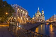 Kerk van de Verlosser op Bloed te St. Petersburg, Rusland Royalty-vrije Stock Fotografie