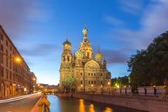 Kerk van de Verlosser op Bloed te St. Petersburg, Rusland Royalty-vrije Stock Afbeeldingen
