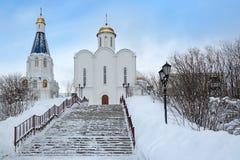 Kerk van de Verlosser op de wateren royalty-vrije stock foto