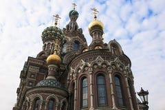 Kerk van de Verlosser op Gemorst Bloed Stock Fotografie