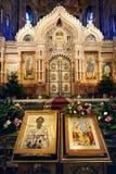 Kerk van de Verlosser op Gemorst Bloed Royalty-vrije Stock Foto