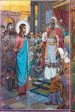 Kerk van de Verlosser op Gemorst Bloed Mozaïekpatroon in binnen Stock Afbeeldingen