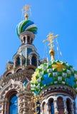 Kerk van de Verlosser op Gemorst Bloed in St Petersburg Stock Afbeeldingen