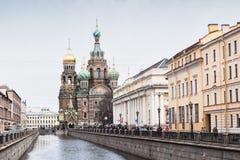 Kerk van de Verlosser op Gemorst Bloed, St. Petersburg Royalty-vrije Stock Foto's