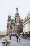 Kerk van de Verlosser op Gemorst Bloed in St. Petersburg Stock Foto's