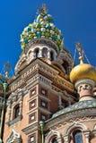 Kerk van de Verlosser op Gemorst Bloed, St. Petersburg, Rusland Stock Foto's